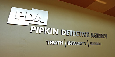 Pipkin Detective Agency Signage