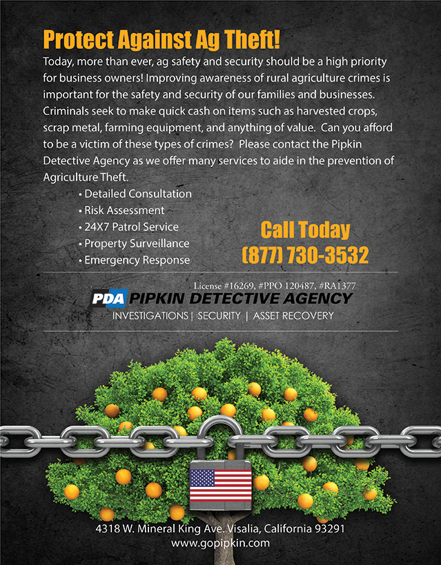 PDA Ad for preventing Agriculture theft.